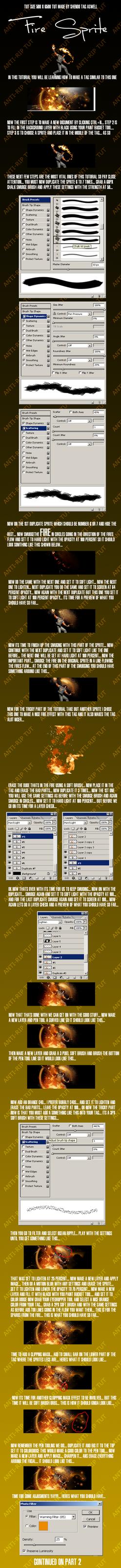 Fire Sprite Tutorial by Sh3ndo