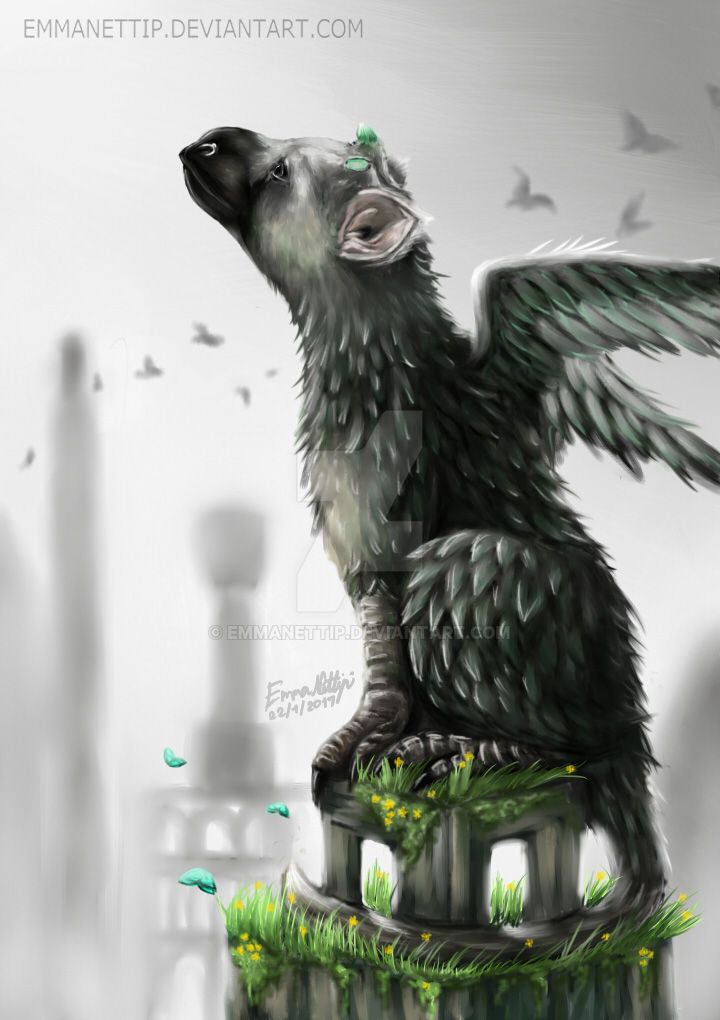 trico from the last guardian by emmanettip on deviantart
