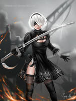 2B from NieR:Automata by EmmaNettip
