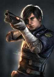 Leon S. Kennedy (Resident Evil 2 Remake) by EmmaNettip