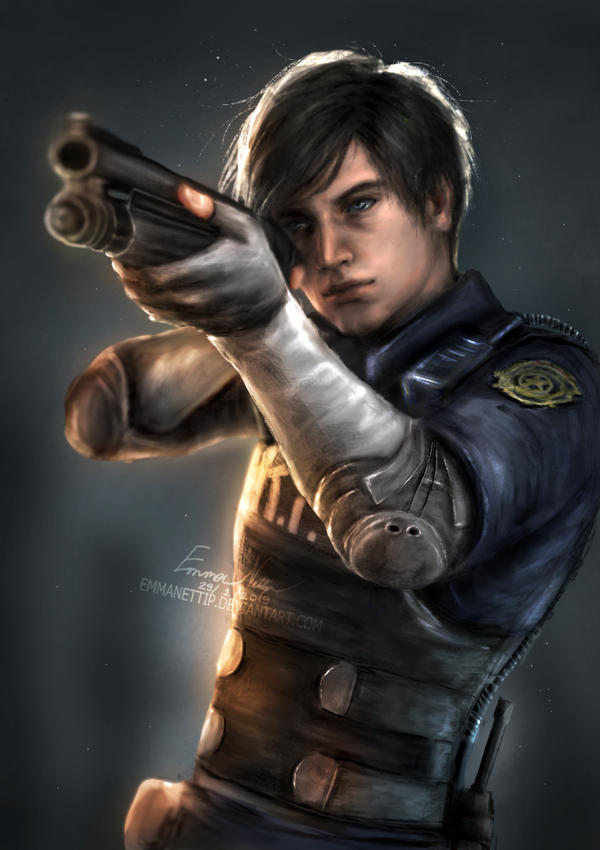 Leon S  Kennedy (Resident Evil 2 Remake) by EmmaNettip on DeviantArt