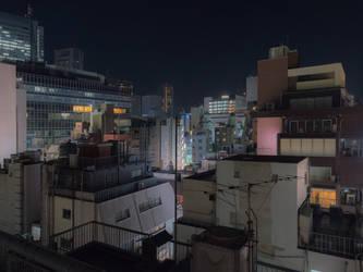 Paysage de Tokyo ( Urban downtown night ) by stephane-bdc