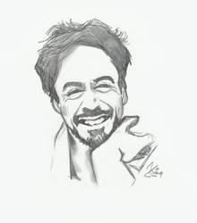 Tony's smile - pencil by MadreGuepardo
