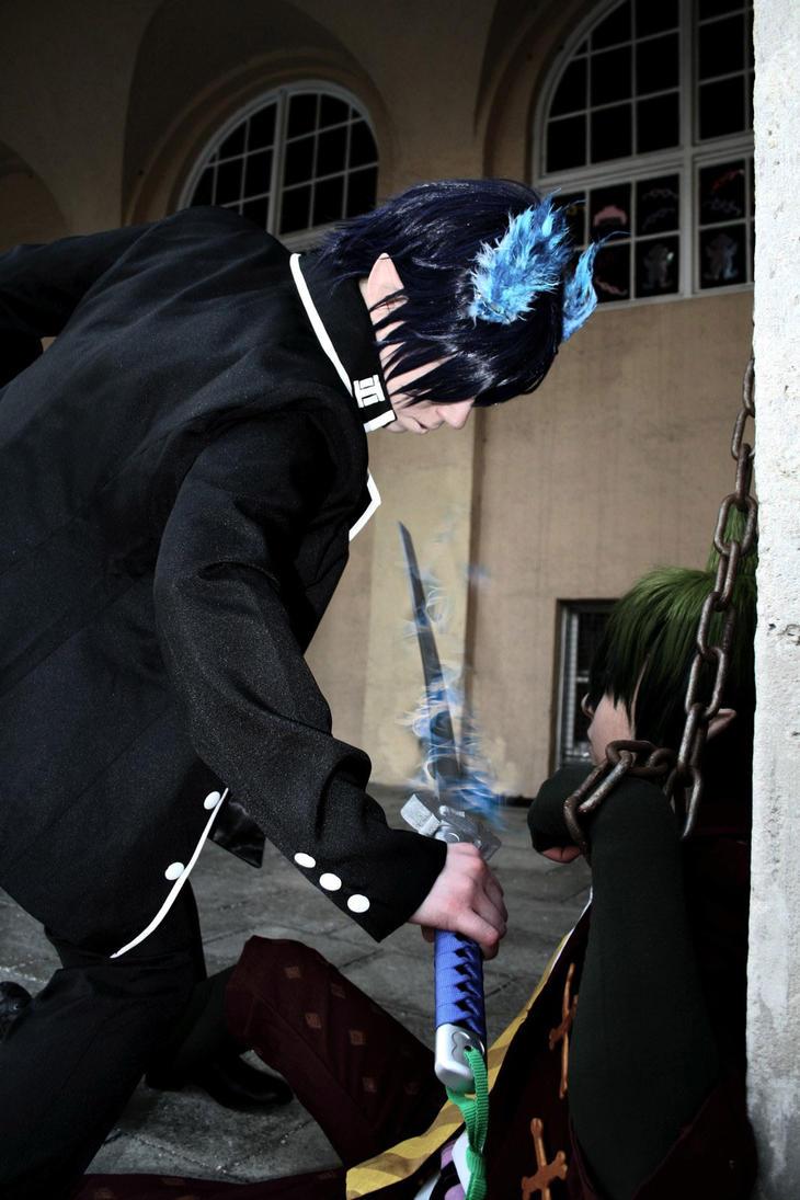 Ao No Exorcist - Rin vs Amaimon by K-I-M-I