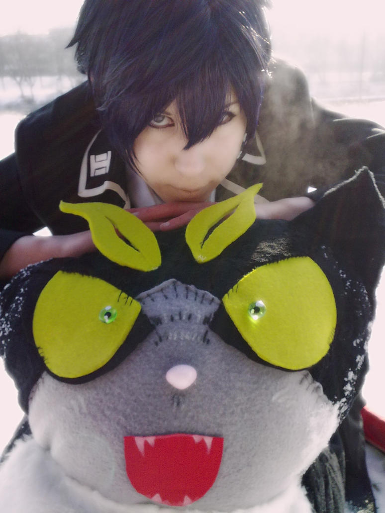 Ao No Exorcist  Rin and Kuro Cat - Just be friends by K-I-M-I