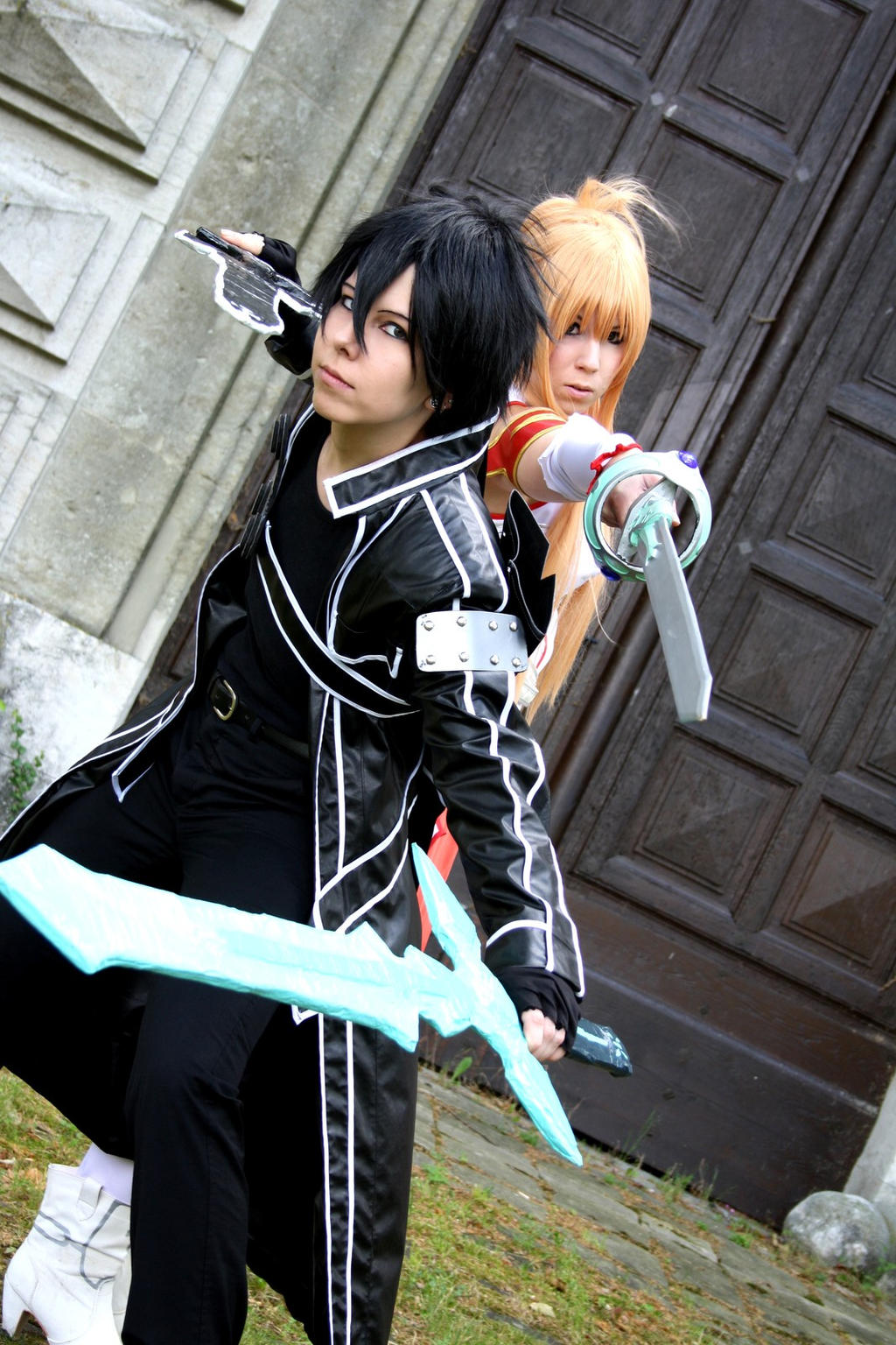 kirito and asuna sword art online cosplay by kimi on
