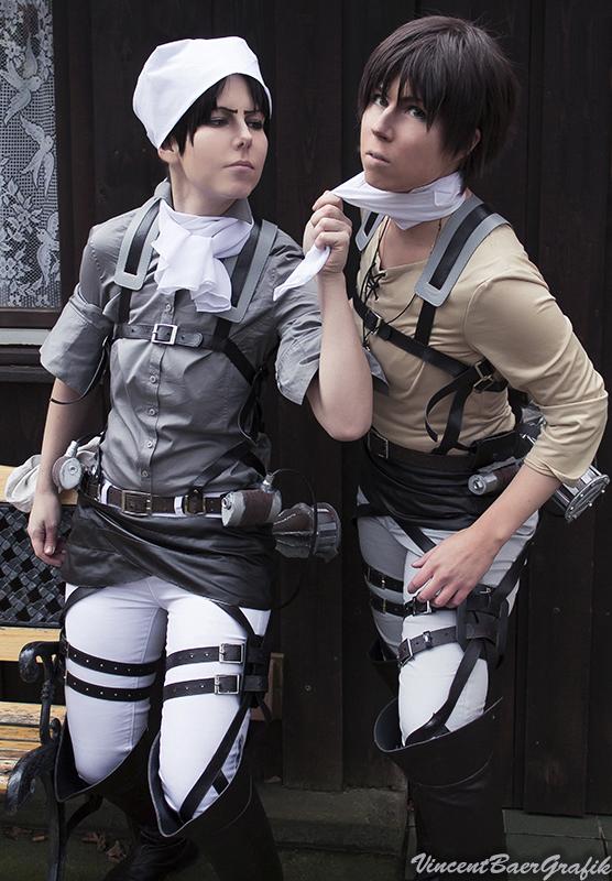 cosplay Eren x levi