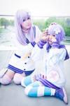 Cute Nepgear and Neptune sister Cosplay