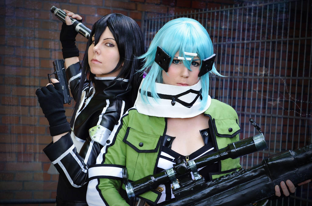 Kirito and Sinon - Gun Gale Online Cosplay by K-I-M-I