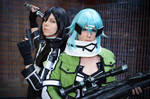 Kirito and Sinon - Gun Gale Online Cosplay