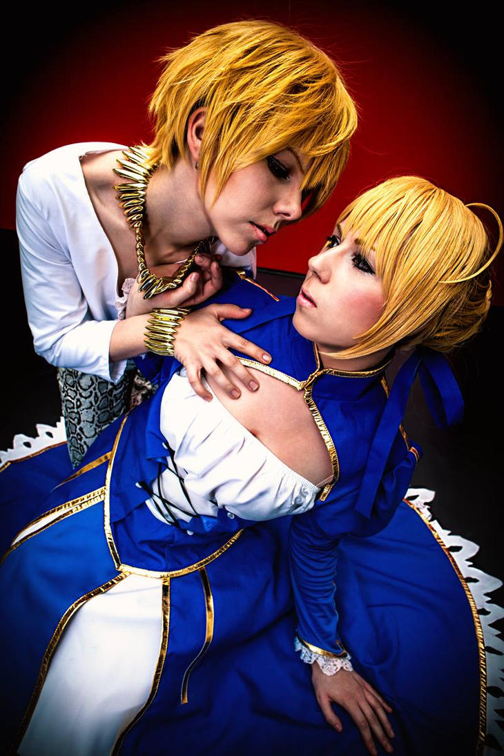 Gilgamesh and Saber - Fate Zero Cosplay by K-I-M-I