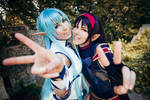 Asuna and Yuuki - SAO II Cosplay - Best Friends