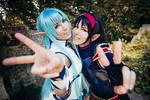 Asuna and Yuuki - SAO II Cosplay - Best Friends
