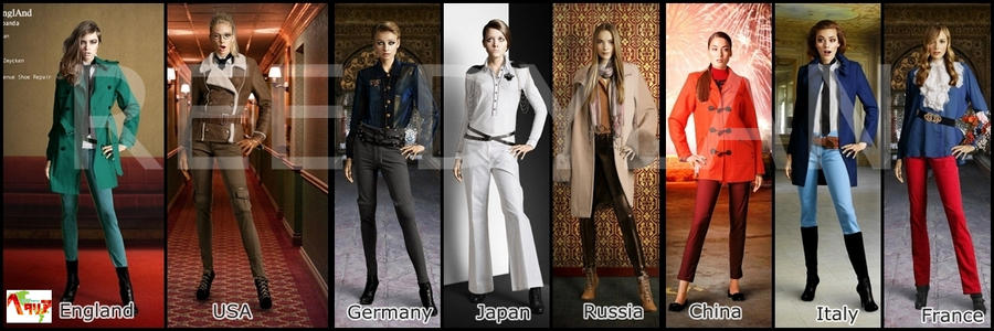 Hetalia Fashion Compilation by ithinkmynameisREE