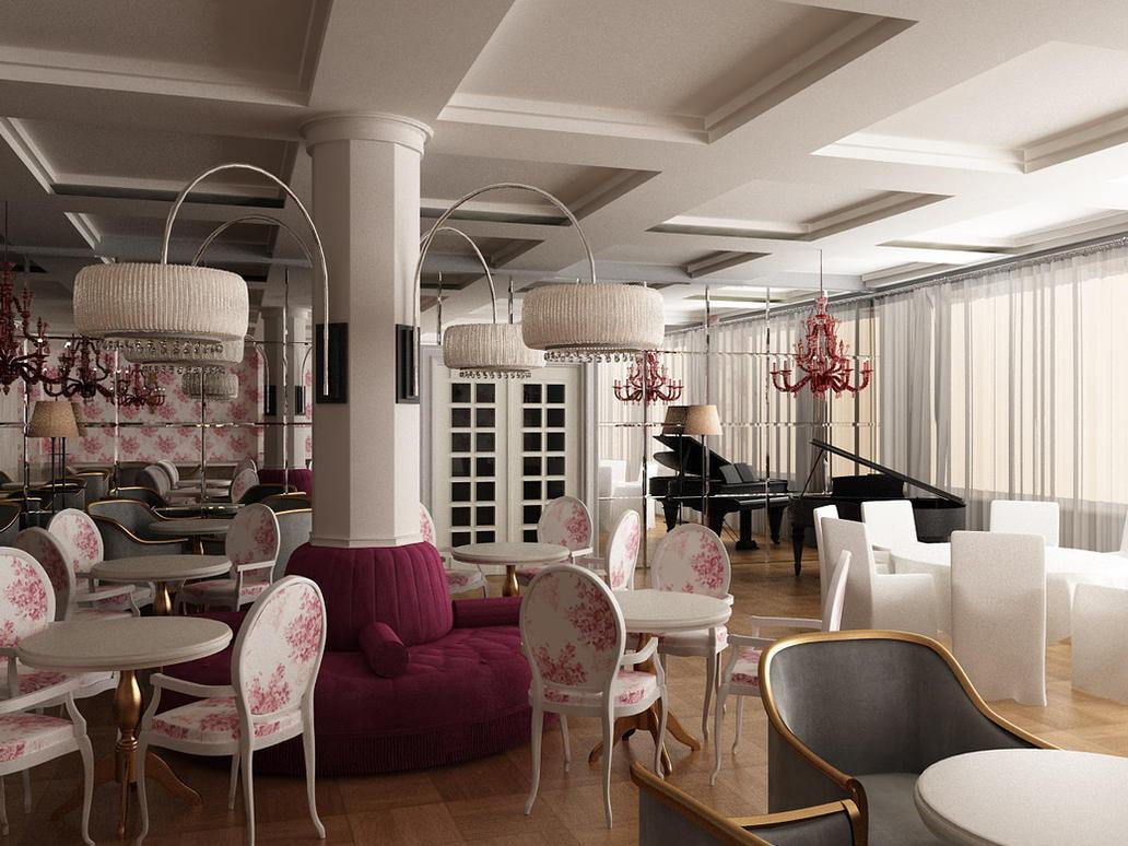Restaurant Interior 2 by iraklisan