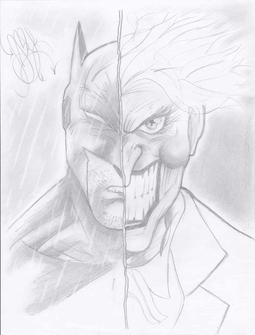 pencil draw batman and joker by naruto2312 on DeviantArt