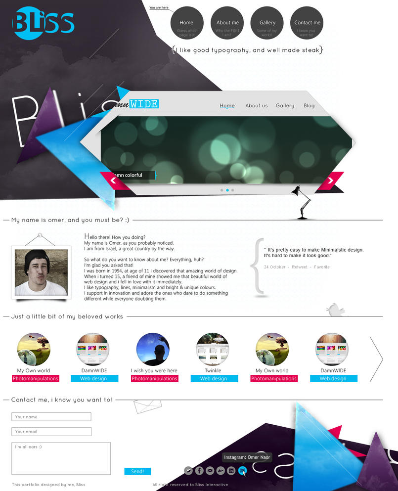 Bliss - Official Portfolio by fReeDoM257