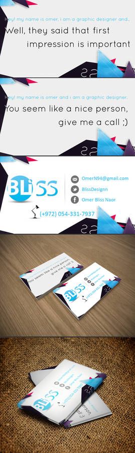 Bliss Business Card