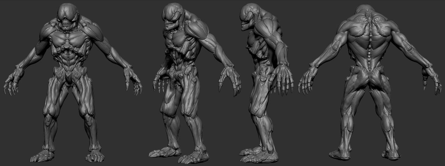 doom 3 inspired monster by slocik