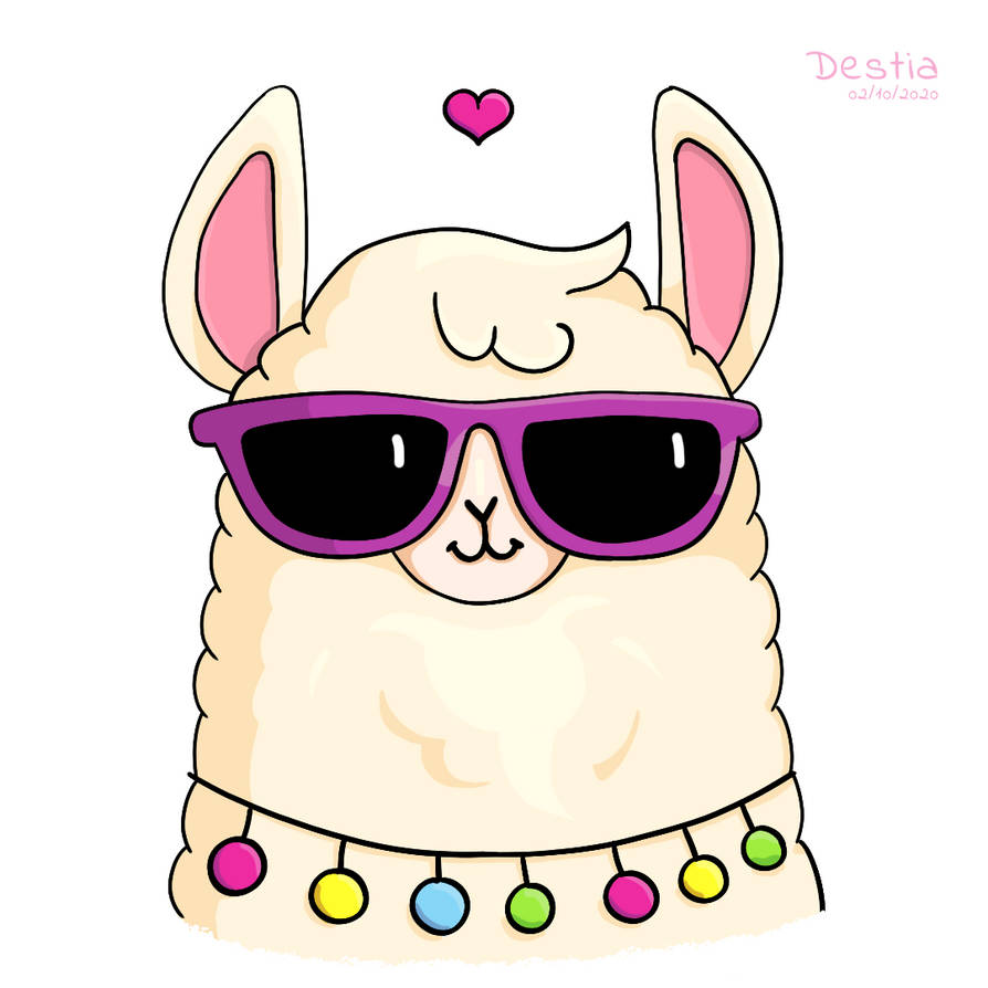 Cute Llama in Sunglasses