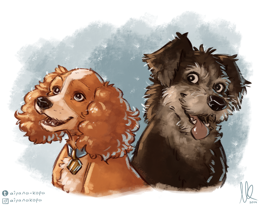 Lady And The Tramp By Aiyana Kopa On Deviantart