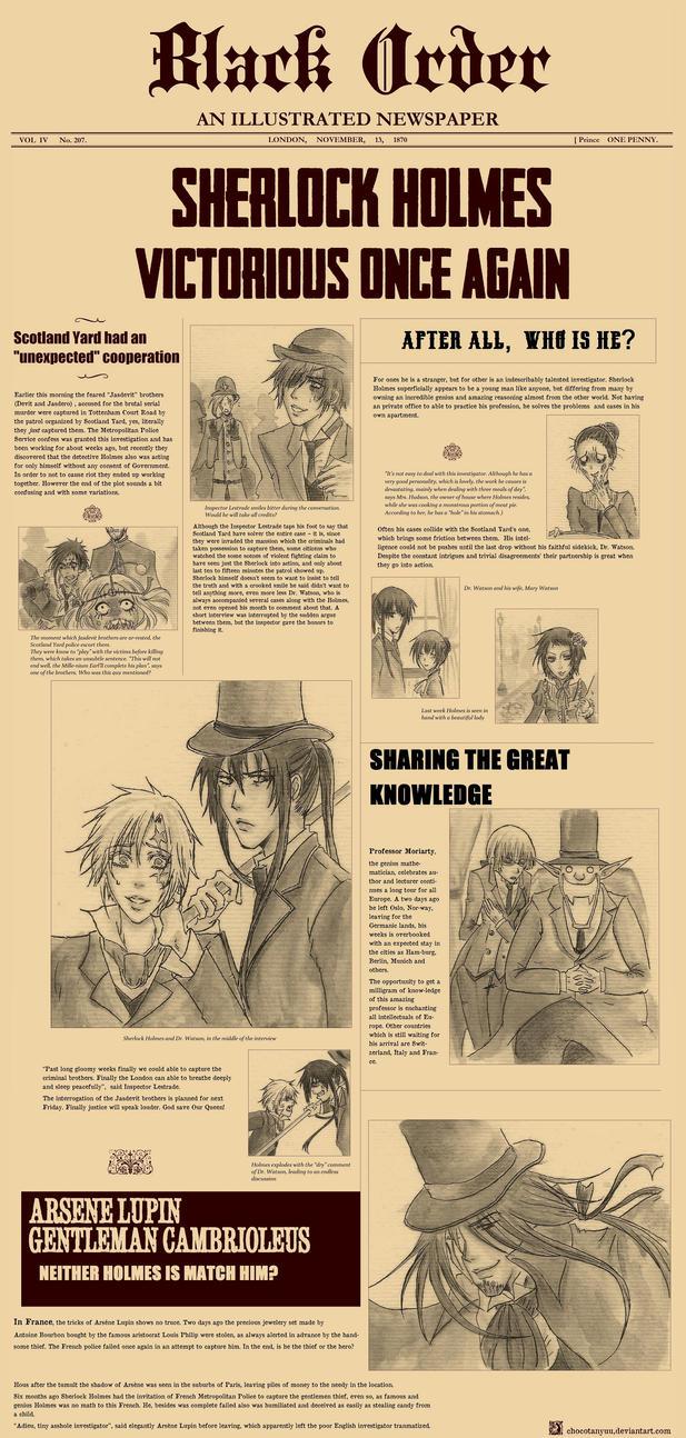DGM - Alternative Universe - Sherlock Holmes by ChocotanYuu