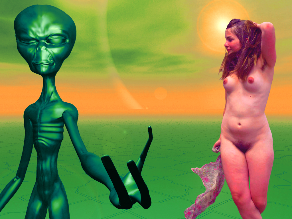 Hippie Araya meets an Alien by RainerLanghans-II
