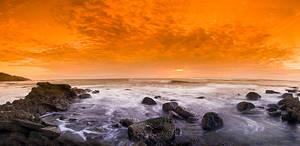 Tequila Sunrise on the Rocks