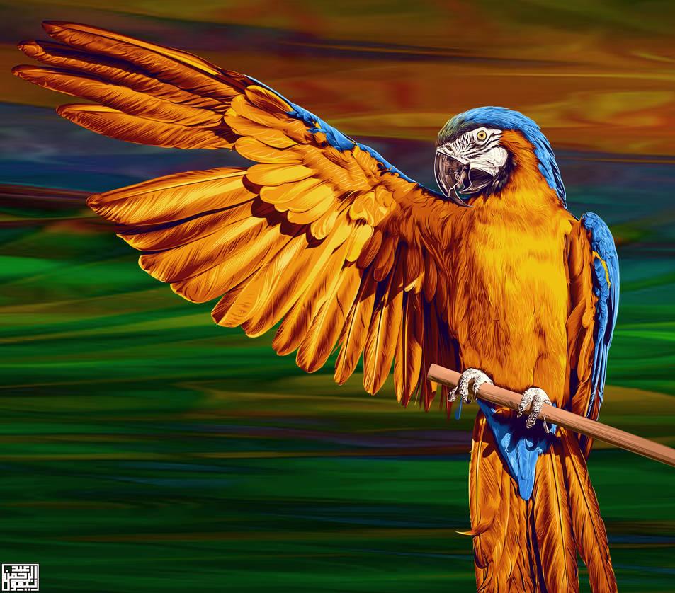 Macaw - Digital Painting