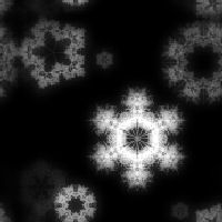 Black n White Snowflake tile by Taboon1