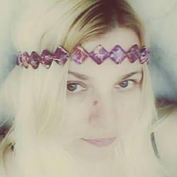 Regali purple semiprecious crown