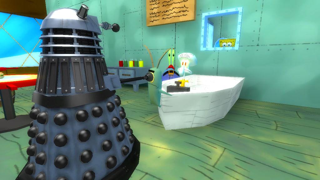 Dalek Invasion of Bikini Bottom by AngusMcTavish