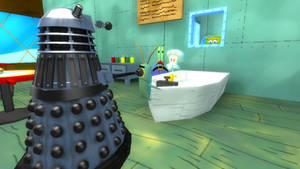 Dalek Invasion of Bikini Bottom by AngusMcTavish