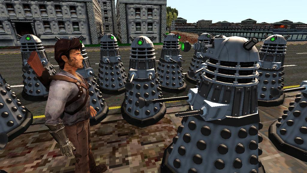 Ash vs. Army of Daleks by AngusMcTavish