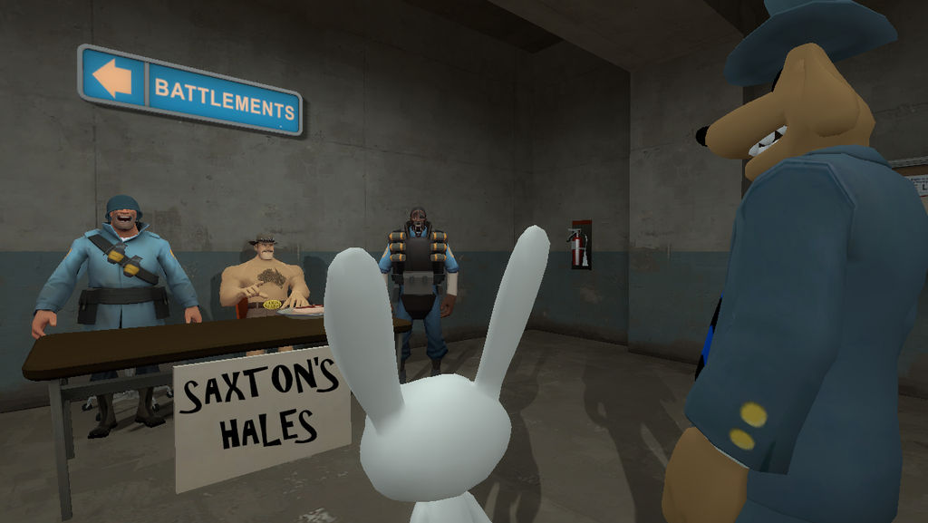 Saxton's Hales - Sam and Max by AngusMcTavish