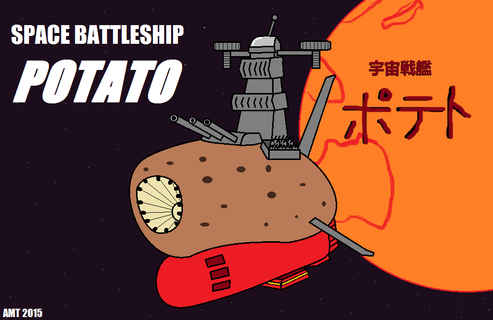 Space Battleship Potato by AngusMcTavish
