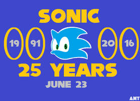 Sonic 25 Paint Version by AngusMcTavish
