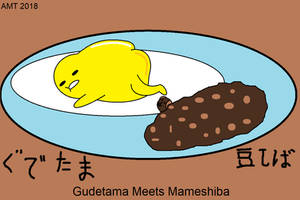 Gudetama Meets Mameshiba by AngusMcTavish