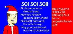Holidays 2018 with MS Sam by AngusMcTavish