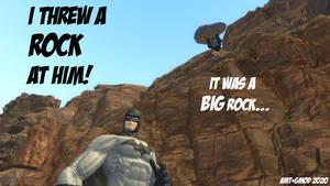 I Threw a ROCK at Him!