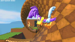 Green Hill Zone but MEEP MEEP!