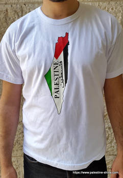 Palestine map NEW T shirt