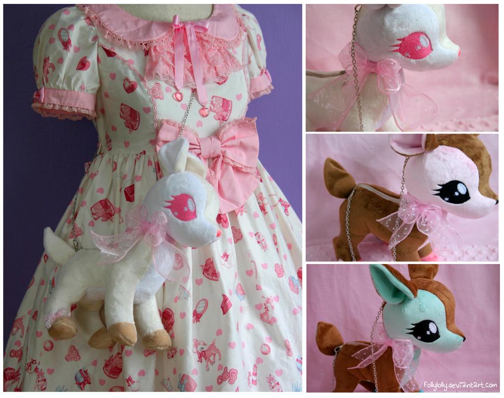 Deer Sweet plush bags by FollyLolly
