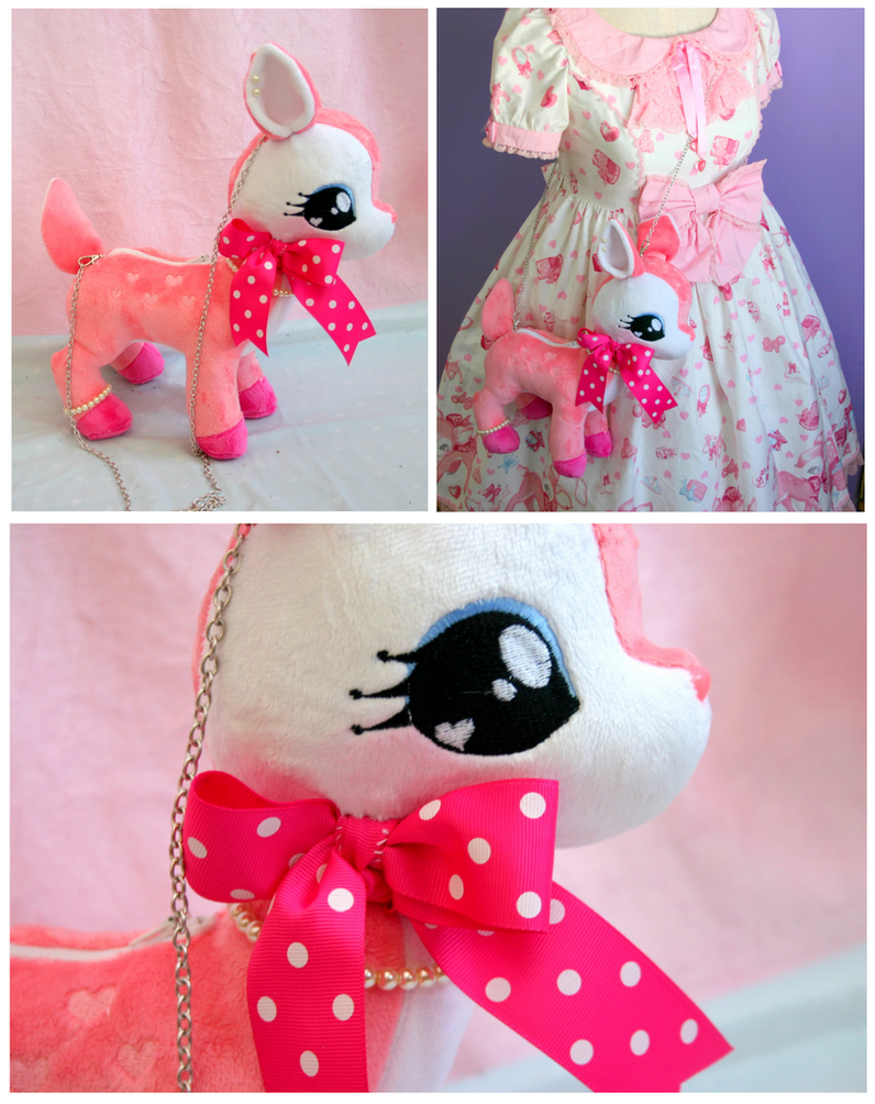 Handmade Milky-Chan purse by FollyLolly