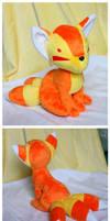 Candy Corn Kitsune by FollyLolly