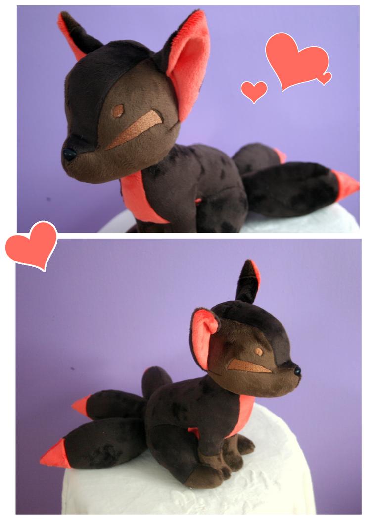 Chocolatey Kitsune Plush by FollyLolly