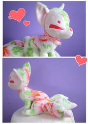 Floral Kitsune Plush by FollyLolly