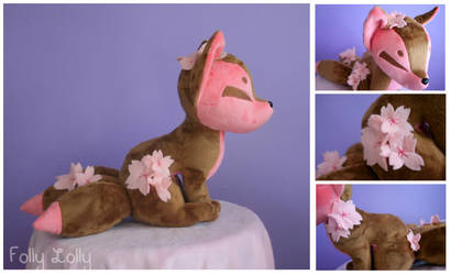 Spring Kitsune Plush by FollyLolly