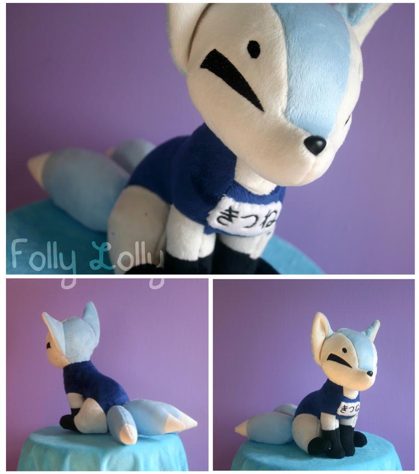 School Swimsuit Kitsune Plush by FollyLolly