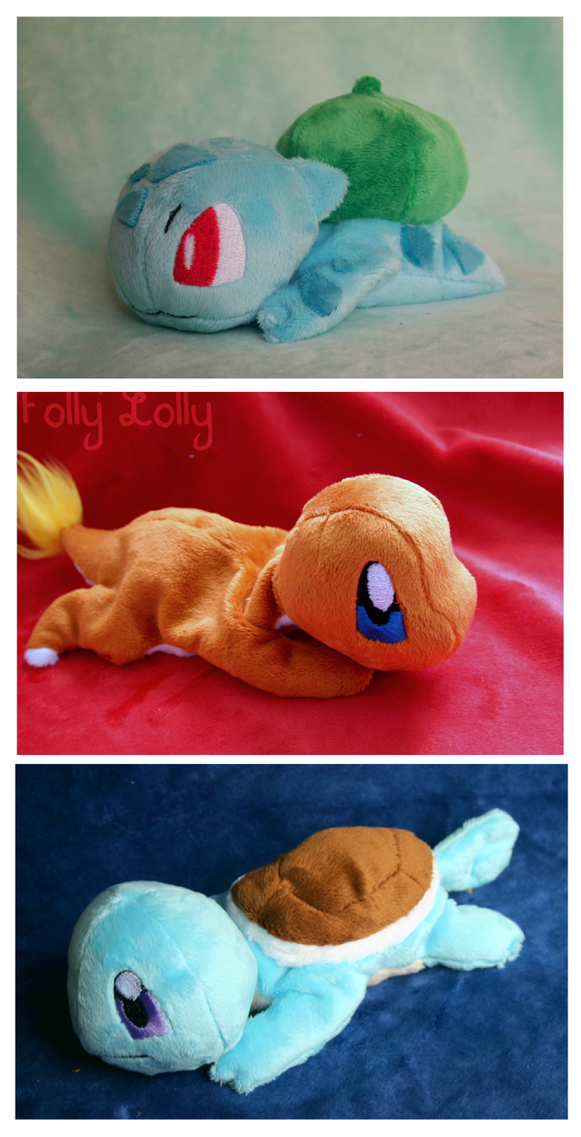Kanto Starter Beanies by FollyLolly
